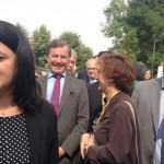 Visite du Solar Decathlon par la Ministre du Logement