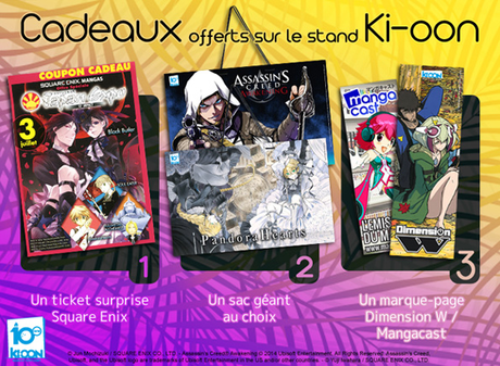 Les goodies Ki-oon à Japan Expo