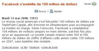 http://www.journaldunet.com/breve/le-net/26774/facebook-s-endette-de-100-million-de-dollars.shtml
