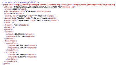 Yahoo! Internet Location Plaform = identification universelle d'un lieu