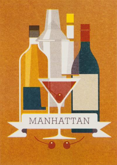 MANHATTAN 5 cl rye or Canadian whisky 2 cl red vermouth 1 dash Angostura bitters