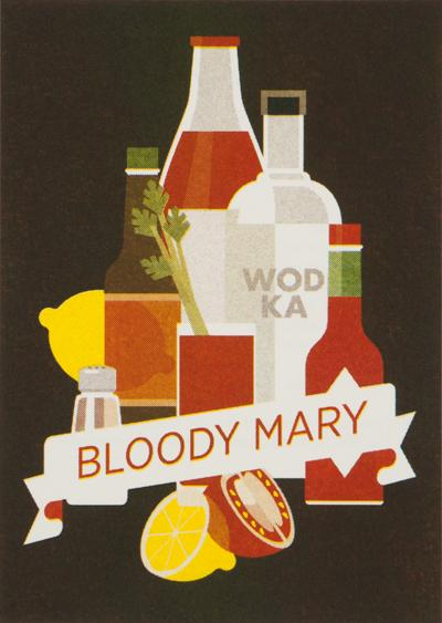 BLOODY MARY 4 cl vodka 1 cl lemon juice 8 cl tomato juice 1 tsp Worcestershire sauce 2 dashes Tabasco 1 pinch of celery salt 1 pinch of pepper