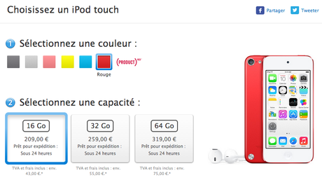 Apple iPod Touch 16 Go France
