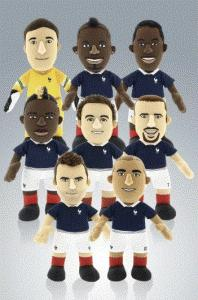 Poupluches, Equipe de France de Football