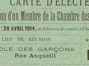 avril 1914 Election d'un Membre Chambre Députés