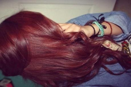 Couleur de cheveux chatain griotte