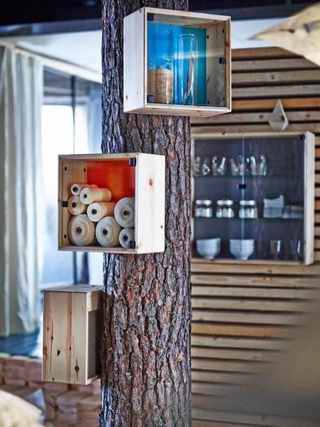 Collection Nornäs Ikea Bois Verre Et Lignes Pures