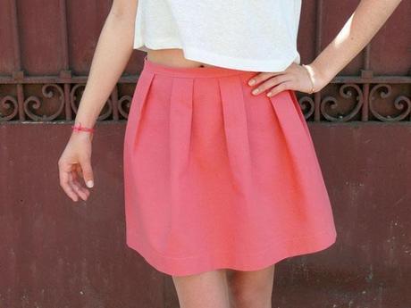 jupe pli forme DIY : une jupe à 16 plis