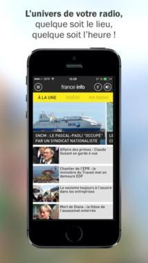 L'App France Info sur iPhone ajoute le bloc 'Ecouter le direct'