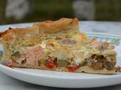 Tarte biquette saumon legumes