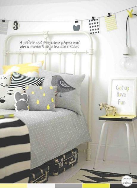 Inspiration couleurs : noir, blanc, jaune et rayures - Paperblog