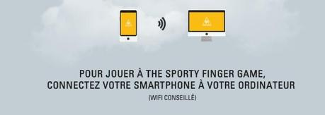 photo the sporty finger game le coq sportif jeu application 2