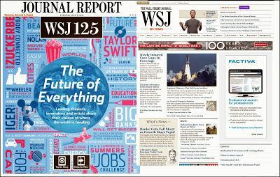 THE WALL STREET JOURNAL - 125 ans d'existence...