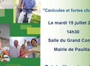 """SANTE Pauillac, juillet 2014 réunion d'information """"Canicules fortes chaleurs"""""""