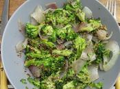 Salade tiède brocolis graines