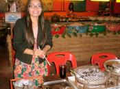 juillet 2014 Udonthani, Repas barbecue.