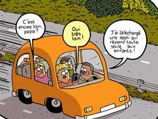Trucs astuces pour occuper enfants pendant voyage voiture.