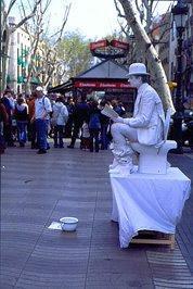 Artiste de rue à Barcelone