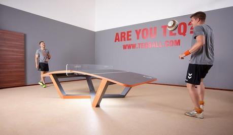 Le Teqball, du ping-pong ballon