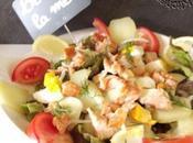Salade composée saumon fumé, pommes terre aneth