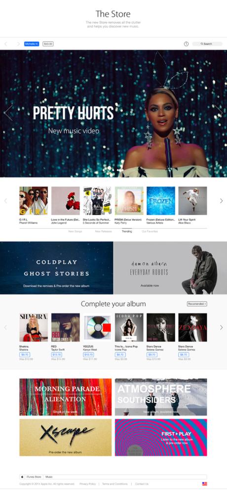 Refonte iTunes iOS 8 concept