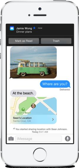 Notifications iOS 8