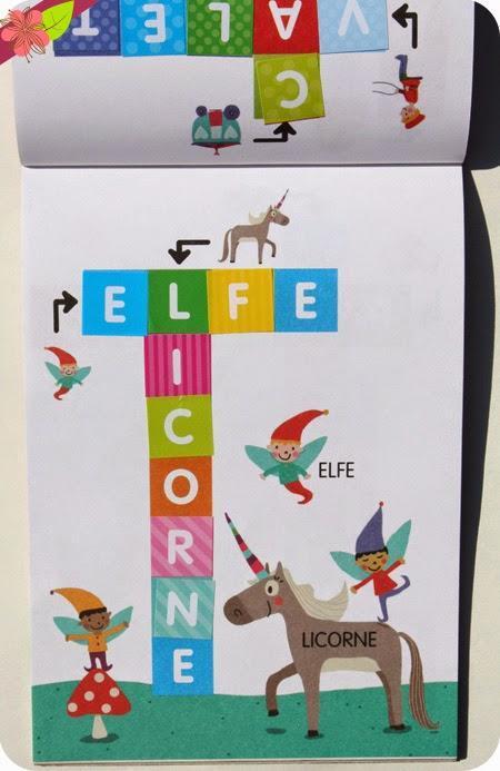 Mes premiers mots croisés en autocollants, illustrations d'Isabelle Jacqué - éditions Lito