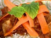Porc gingembre orange façon thaï