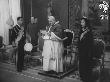 1960 Rama IX roi de thaïlande rencontre le pape au vatican [HD]