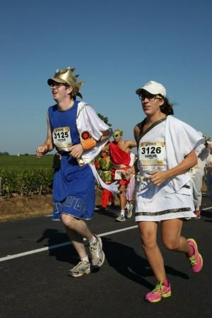Caro et Tom au marathon du Médoc