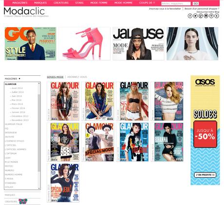 Modaclic, le site qui mixe magazines et shopping