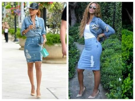 Rihanna Beyoncé Look Denim
