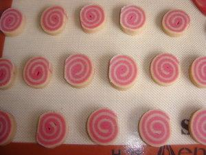 Biscuits escargot vanille, fraise