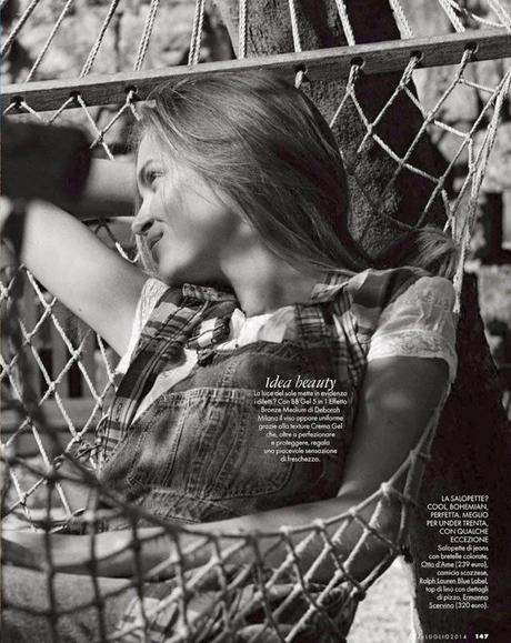 JOSEPHINE SKRIVER FOR ELLE ITALIA JULY 2014