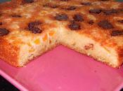 Gâteau noisettes abricots chunks chocolat caramel