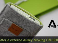 Aukey Moving Life, batterie externe design pour smartphone