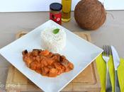Poulet curry rouge aubergines