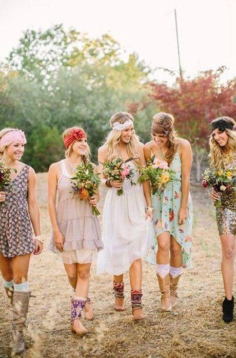 Le mariage bohème & hippie chic