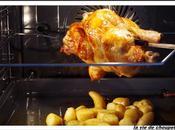 Poulet broche pommes terre epices