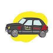 La voiture aux couleurs de la Ratte du Touquet