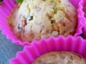 Muffins petits pois, menthe comté