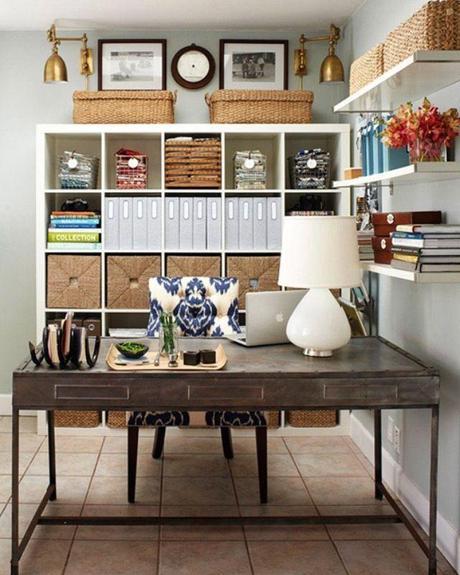 Id es et inspirations pour la d coration du bureau paperblog - Idee bureau petit espace ...