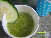 Limonade concombre, citron vert sirop verveine citronnelle
