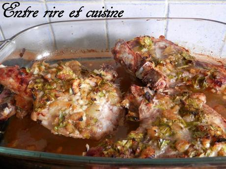 Côtes de porc au miel et gingembre (en marinade)