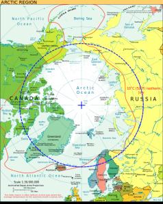 Le cercle polaire ou cercle arctique