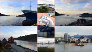 Le port de Bodø vu depuis le fort de Nyholmen.