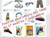 Frais port offerts 100€ août septembre