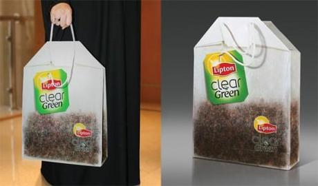 Lipton-Clear-Green-Guerrilla-Marketing-Shopping-Bag