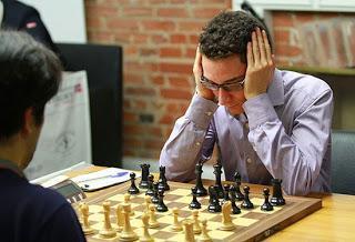 L'Italien Fabiano Caruana abattu hier Hikaru Nakamura lors de la ronde 5 © Chessbase