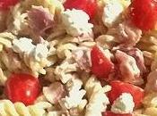 Pâtes jambon cru, ricotta tomates cerises